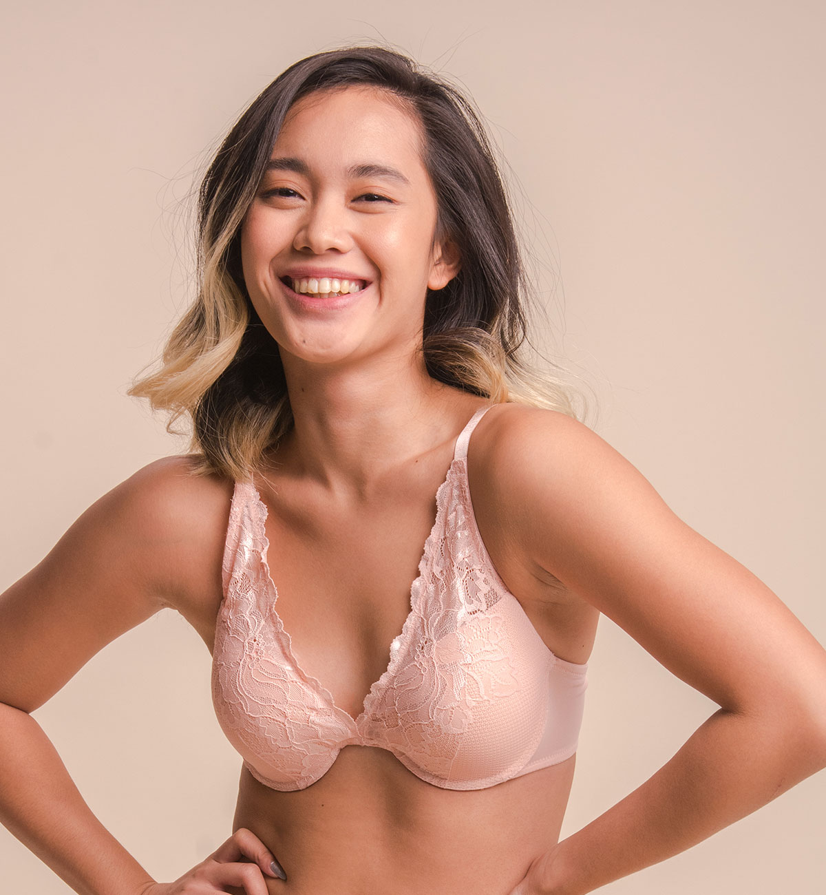 Naomi Lacy V-Shaped Bra